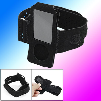Black Sports Armband Holder for iPod Nano 5th Generation