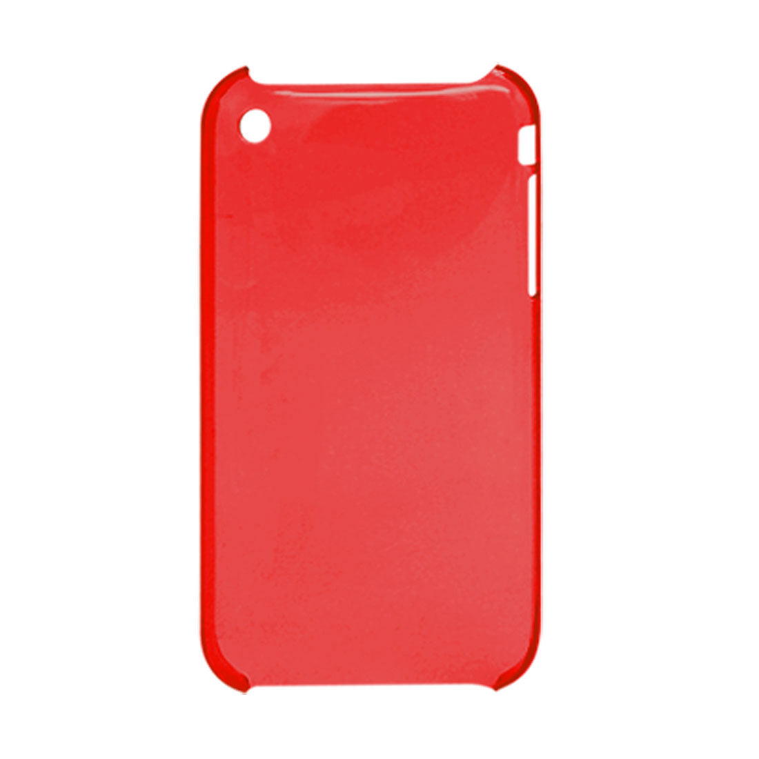 Clear Red Plastic Case Cover Shell for Apple iPhone 3G