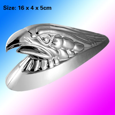 Eagle Head Chrome Look Car Badge Plastic Emblem Sticker