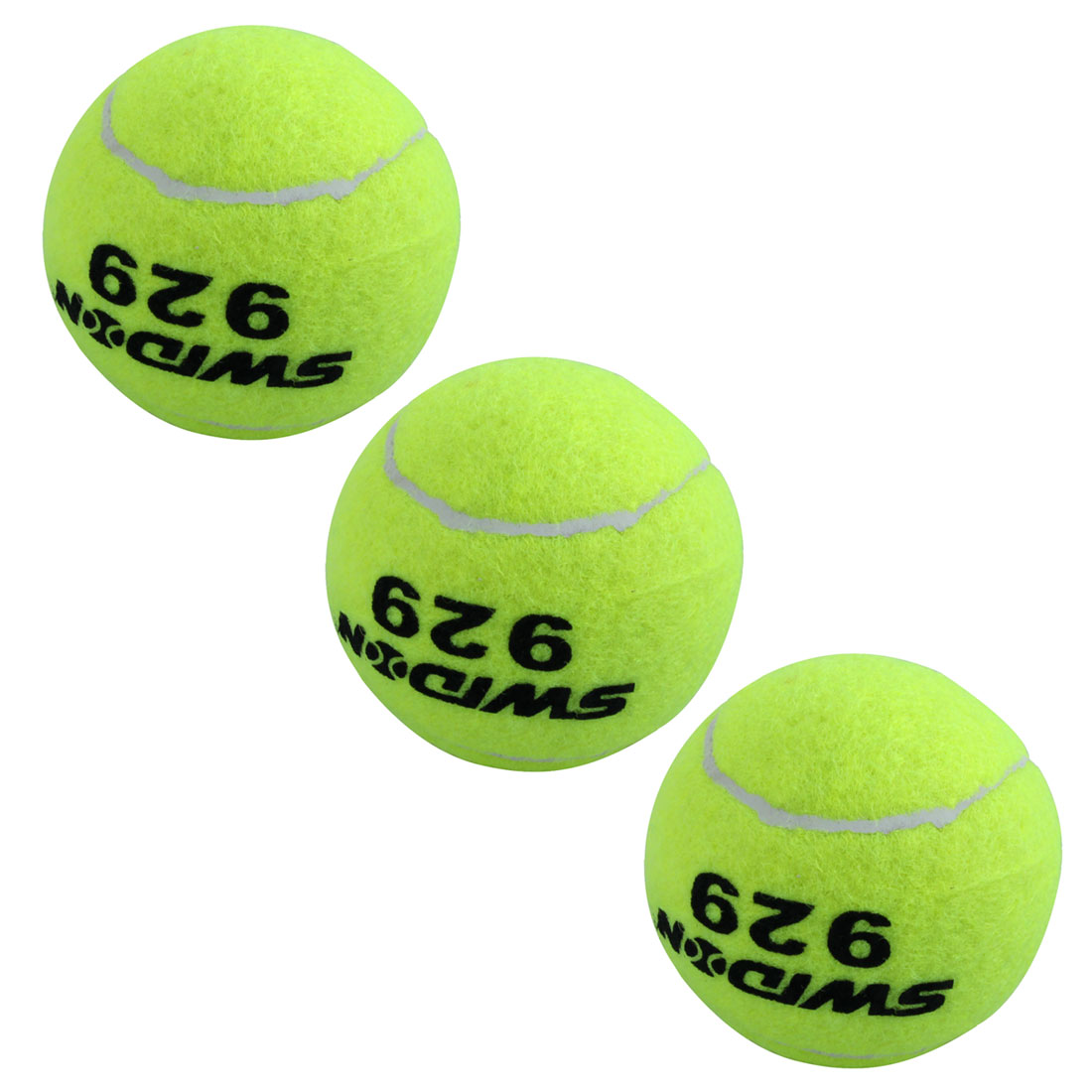 3 Professional Training Sports Tennis Balls Yellow