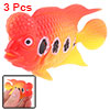 3 pcs Plastic Fish Aquarium Tank Ornament Decoration