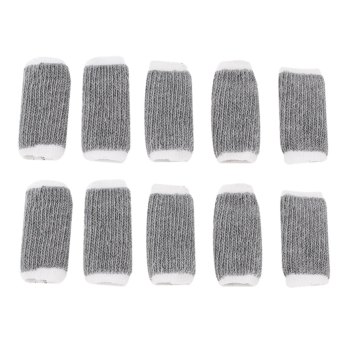 Sports Finger Sleeve Elastic Protector 10pcs Gray