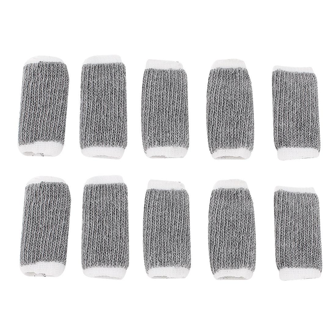 Sports Finger Sleeve Elastic Protector 10pcs Gray