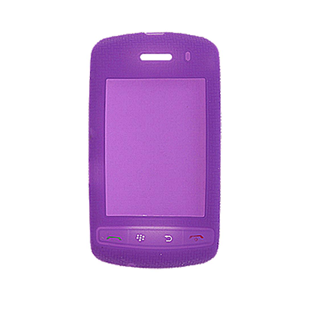 Nonskid Silicone Case Skin for Blackberry 9500 9530 Purple