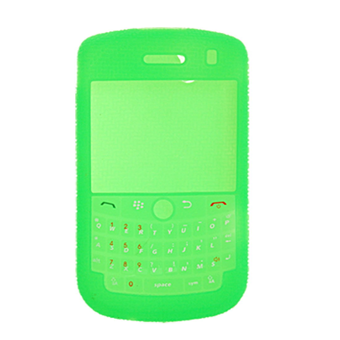 Anti-Slip Green Silicone Cover Case for Blackberry 9000