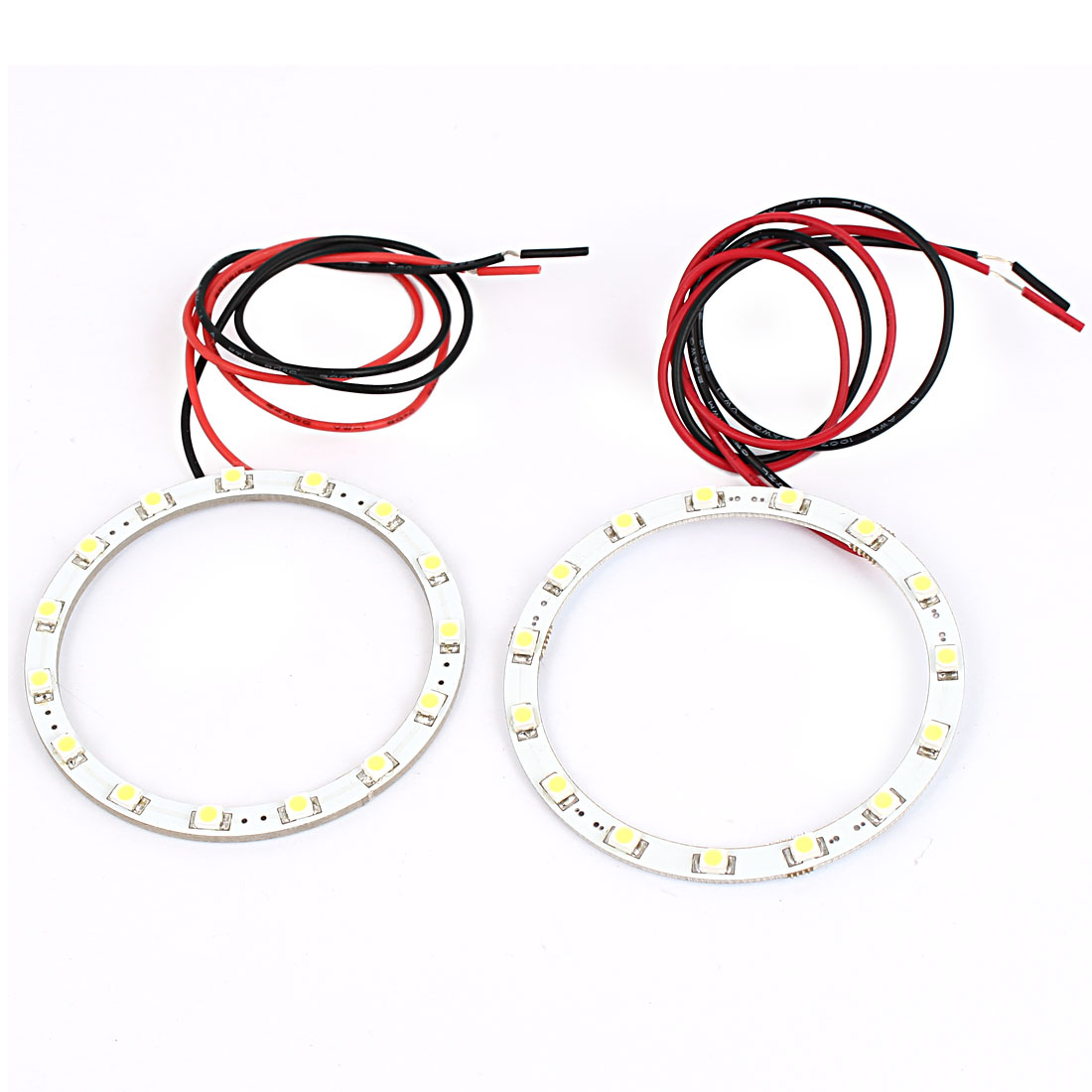 2 x 60mm 1W White 15 LED Angel Eyes Car Halo Ring Light Bulb Headlight