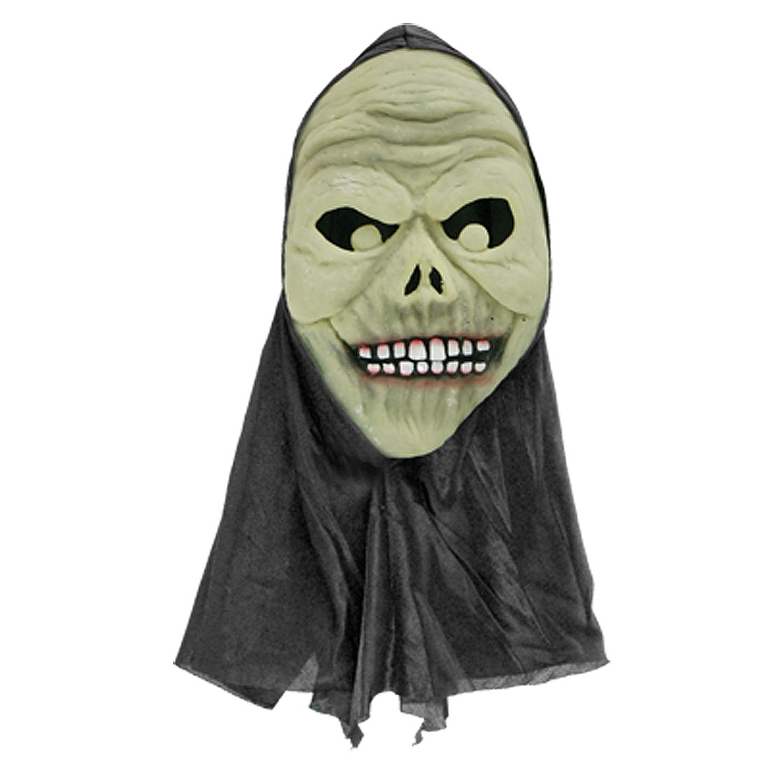 Adult Halloween Grin Mask w Black Head Costume