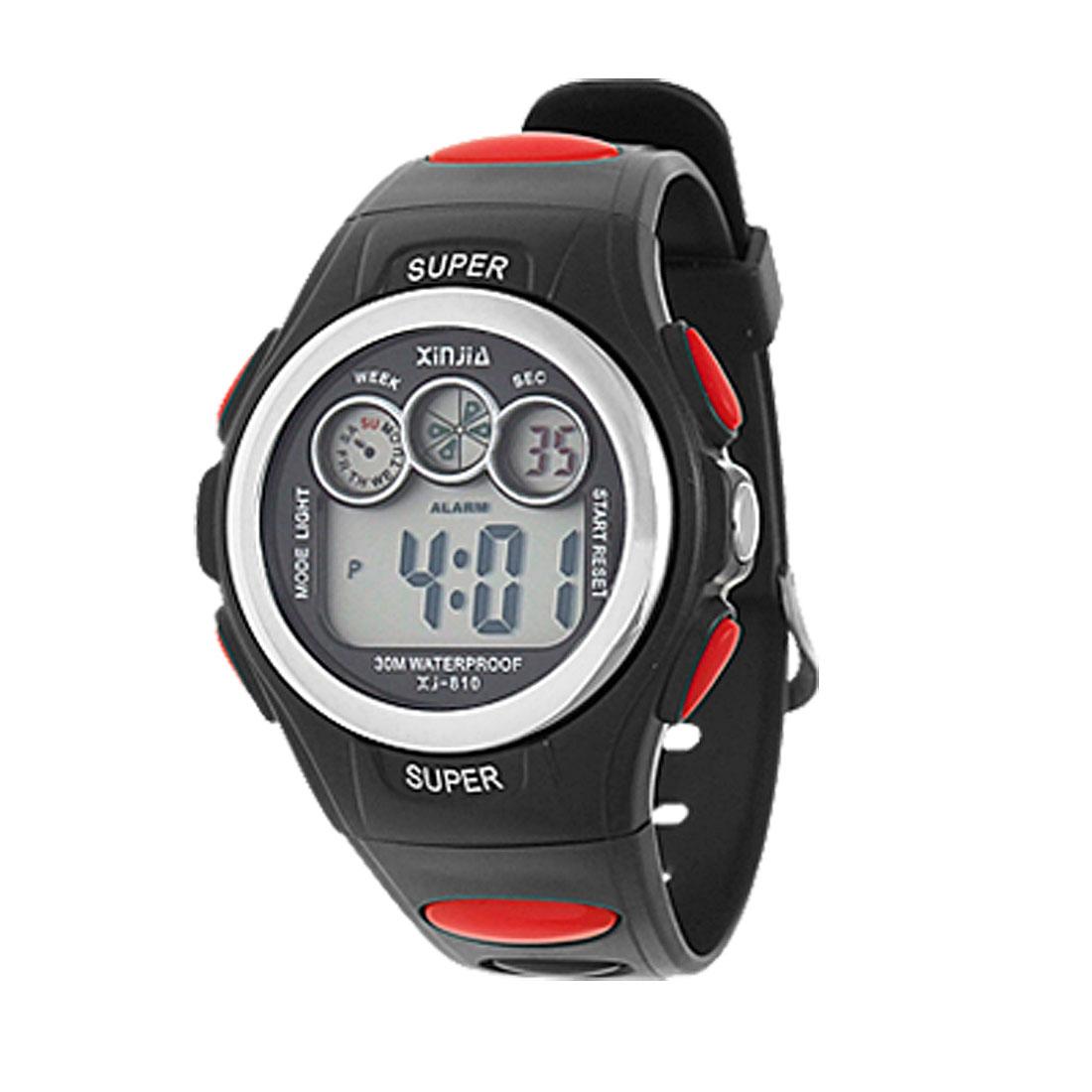 Soft Plastic Watchband Sports Student's Wrist Watch