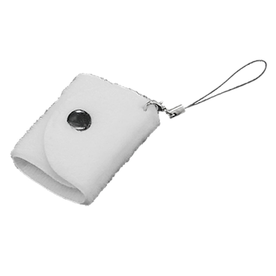 Bag Style Mobile Phone Strap - White