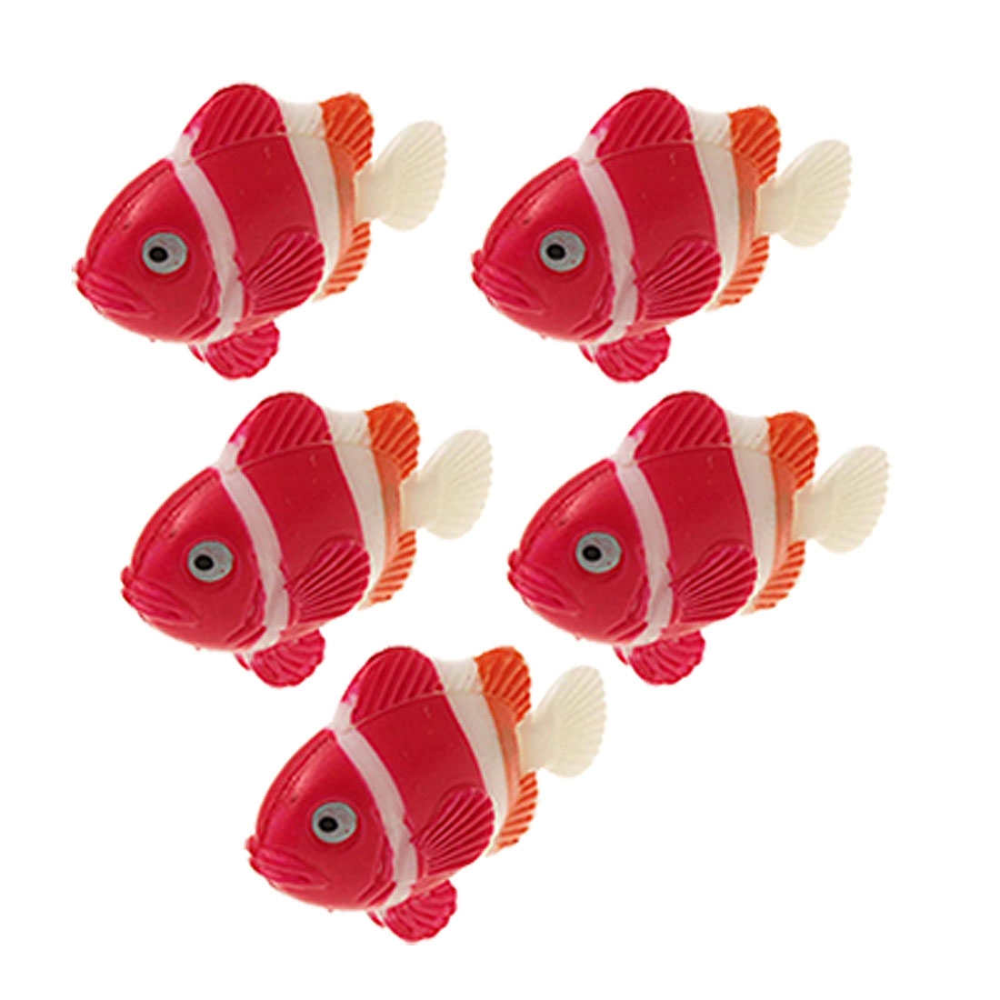 Five Plastic Slim Fish Aquarium Tank Ornament
