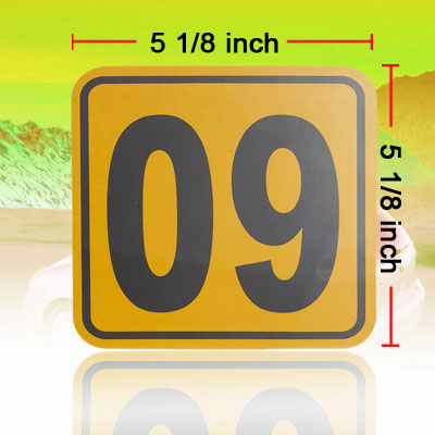 09 Number Sign Auto Car Vinyl Decal Sticker