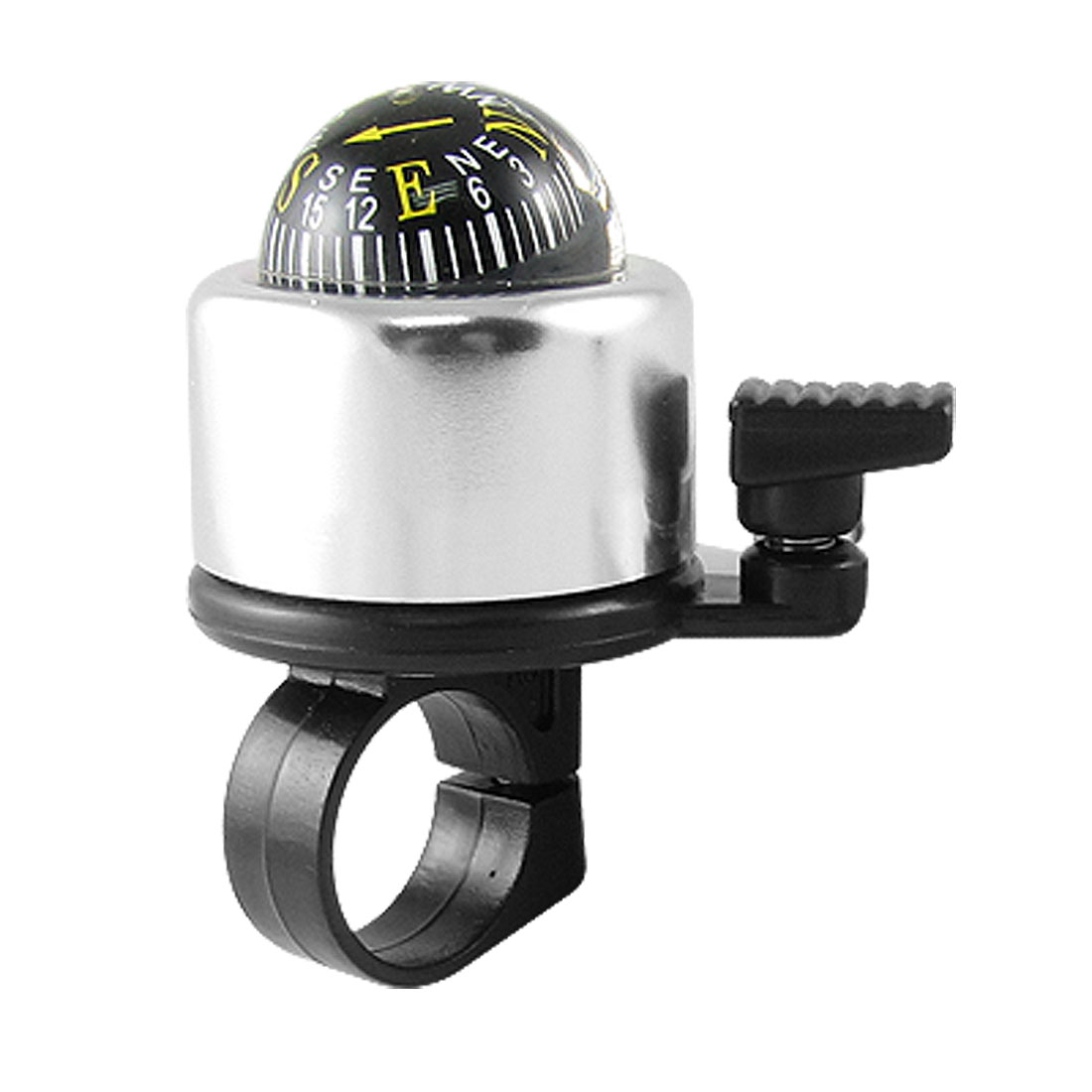 Front-Mounted Compass Bell Silvery Black for Bike Bicycles