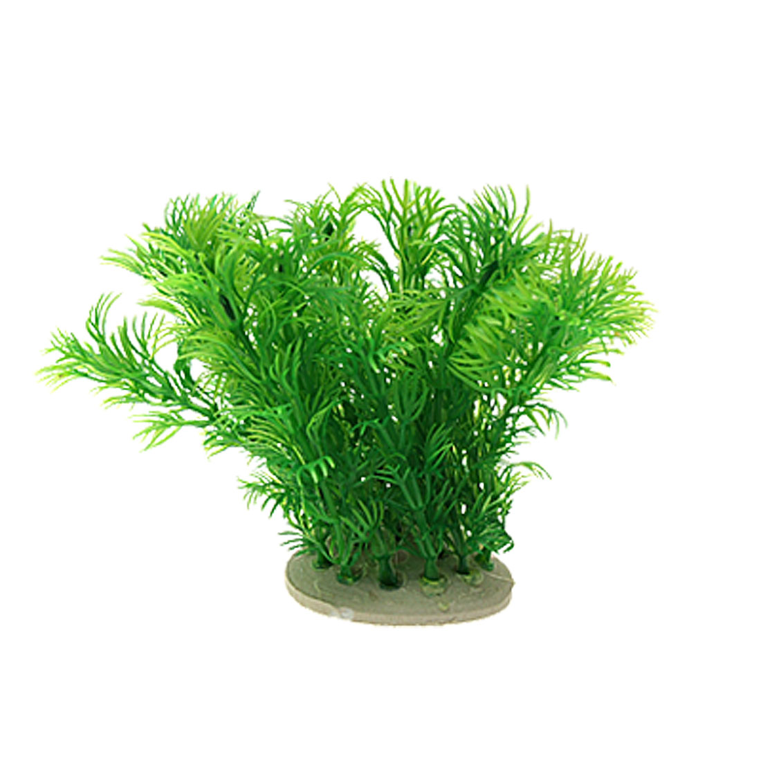 Realistic Green Plastic Plants Decor Ornament for Fish Tank