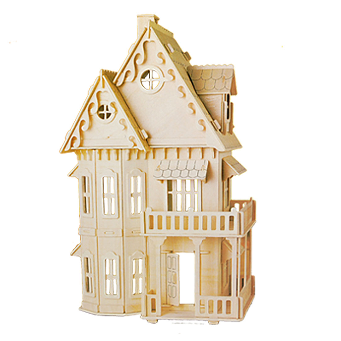 3D Wood Craft Gothic House Construction Kit for DIY