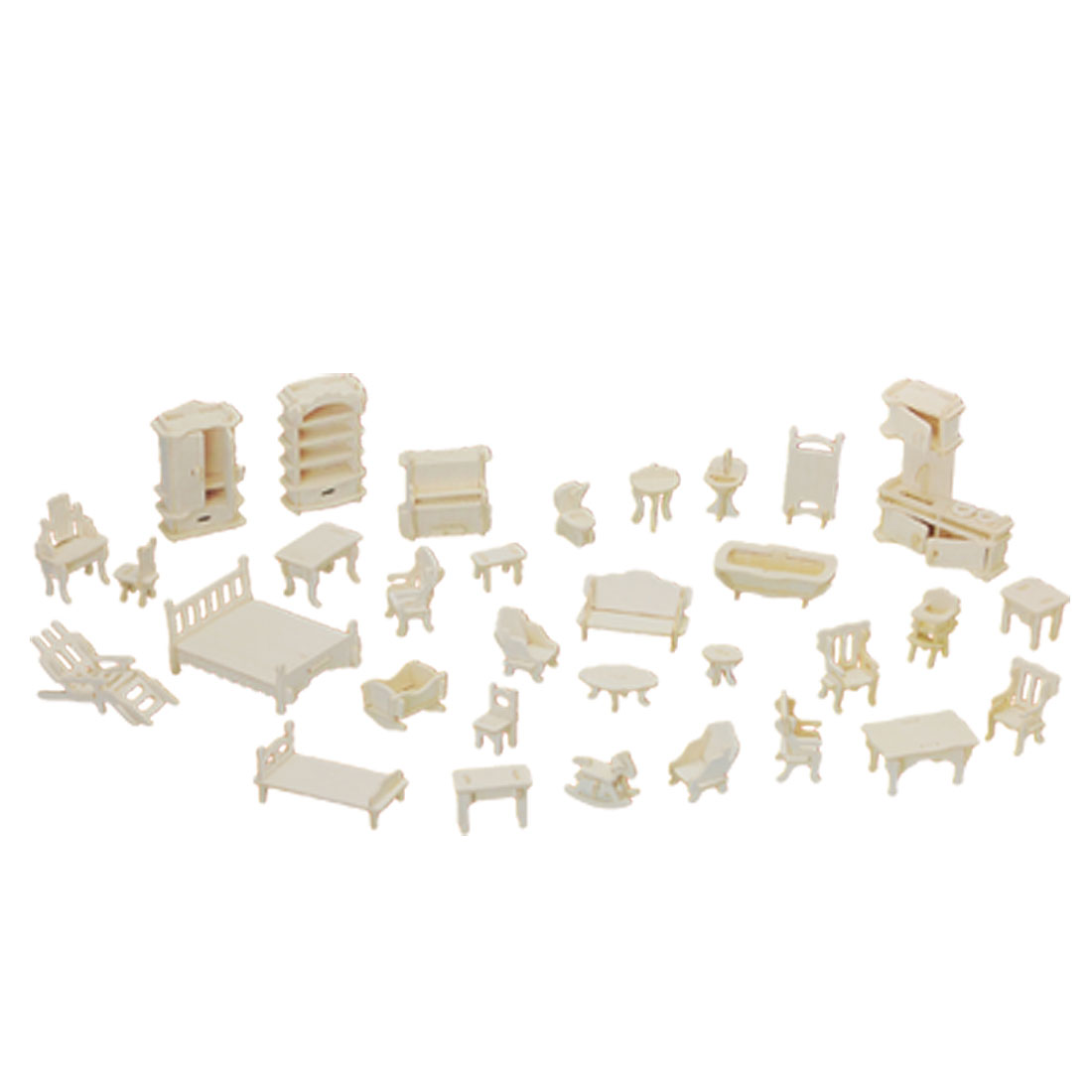 Toy Child's Bedroom Wooden Craft Construction Puzzle Kit