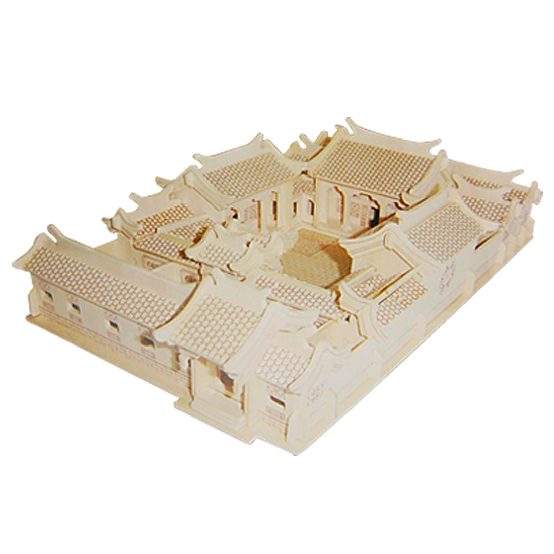BeiJing Quadrangle Courtyard House Model Woodcraft Construction Kit