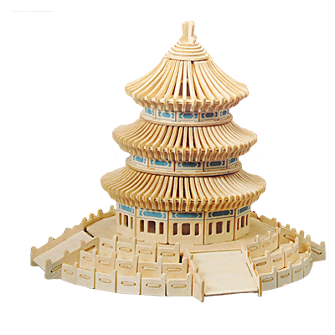 Temple of Heaven Model Puzzle Toy Woodcraft Construction Kit