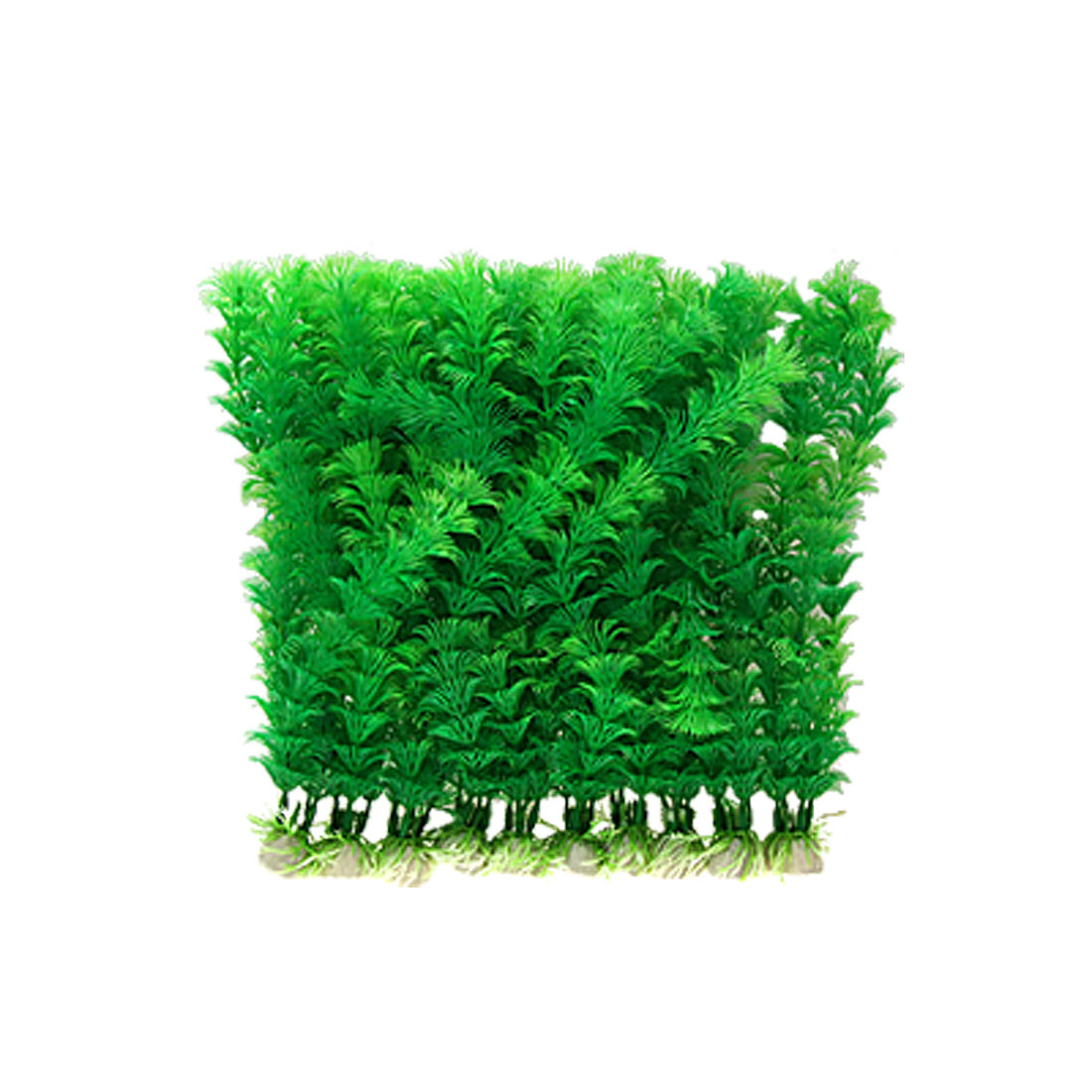 10 PCS Green Plastic Plants Aquarium Fish Tank Ornament