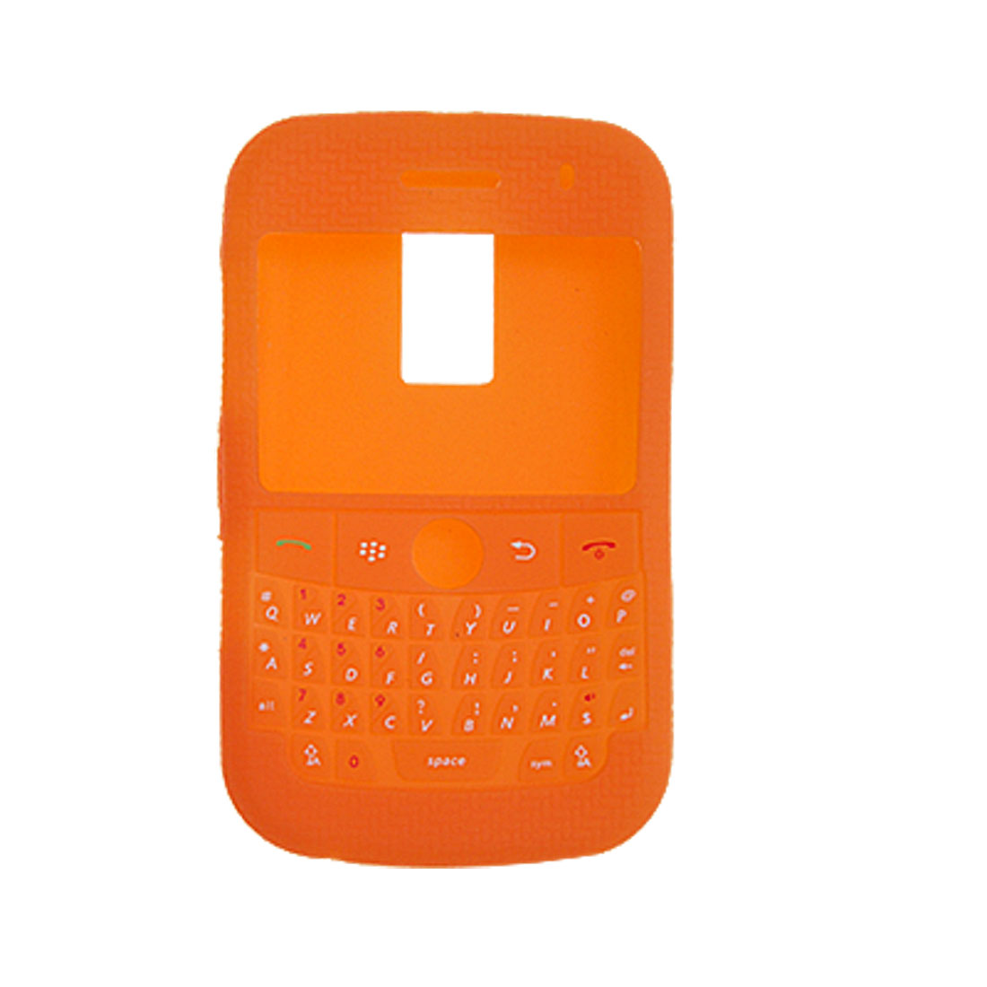 Stylish Non-slip Orange Silicone Skin Case Cover for Blackberry 9000