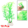 10pcs Plastic Plants Aquarium Fish Tank Decoration