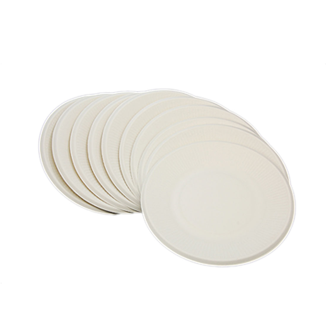 180mm Round Disposable Reed Pulp Snack Dishes 10 PCS