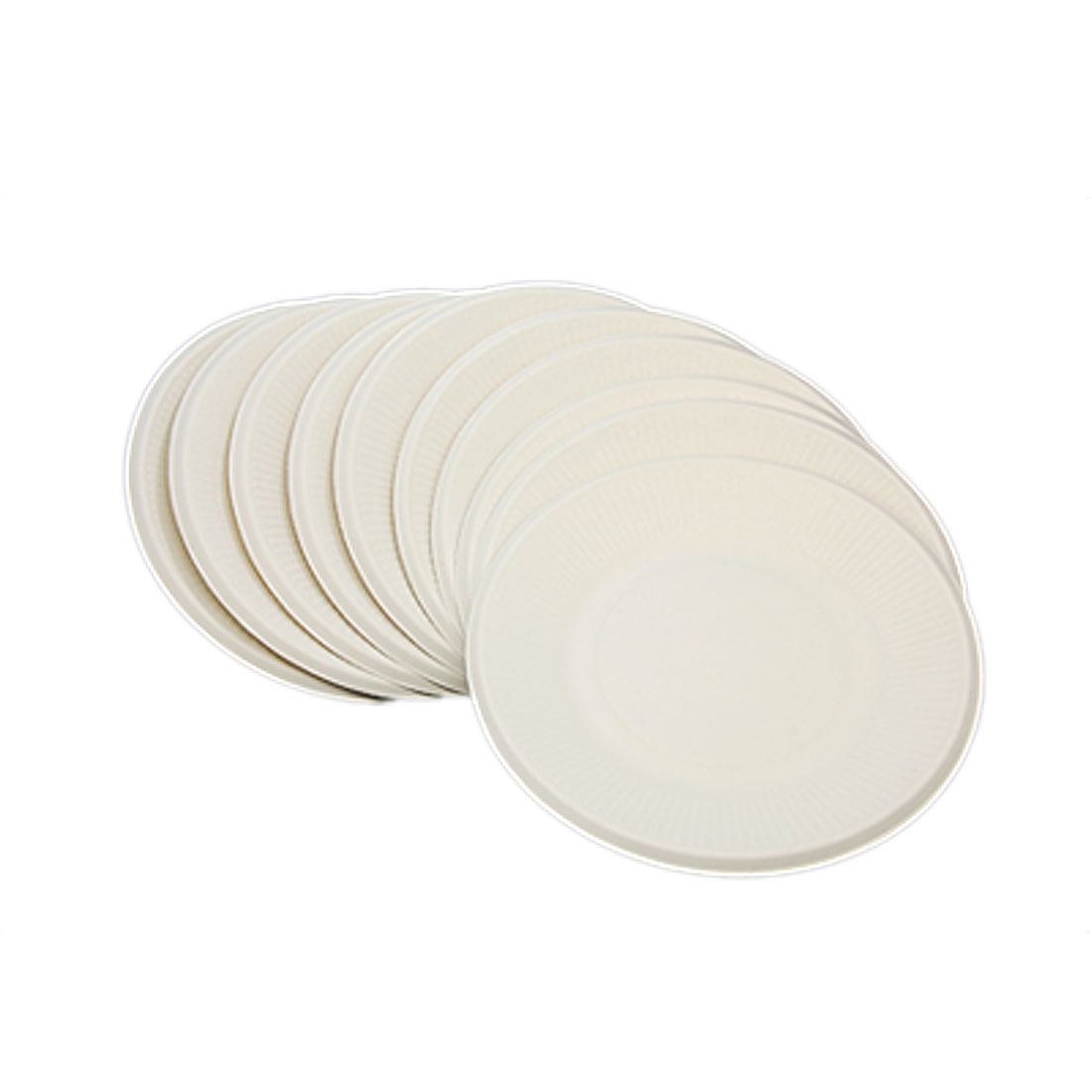 Big Size Disposable 10 PCS Reep Plup Snack Dishes 205mm