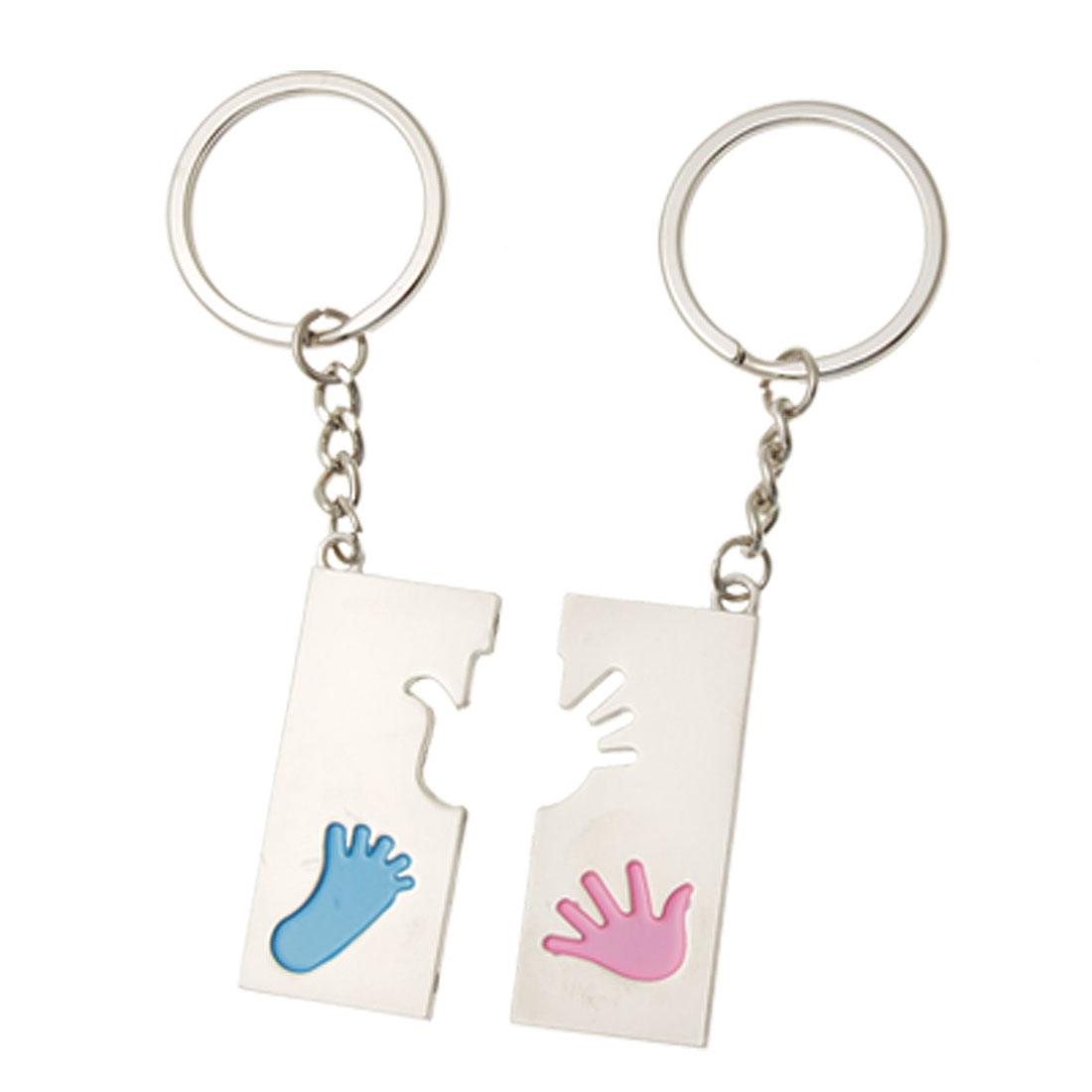 Hands Pattern Pendant Keychain Pair Keyring for Lovers