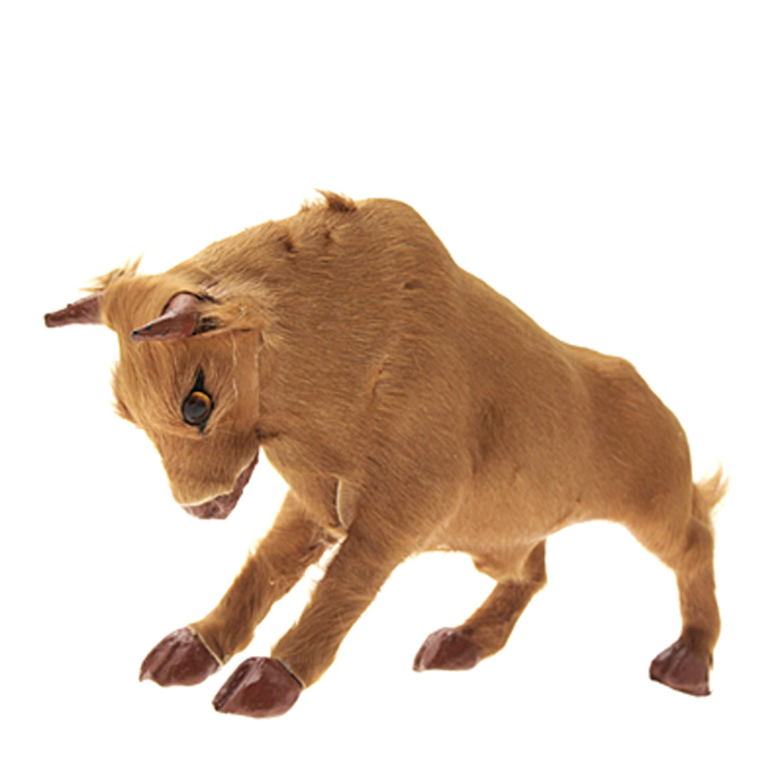 Cattle Furry Plush Toy Stuffed Animal Desk Ornament