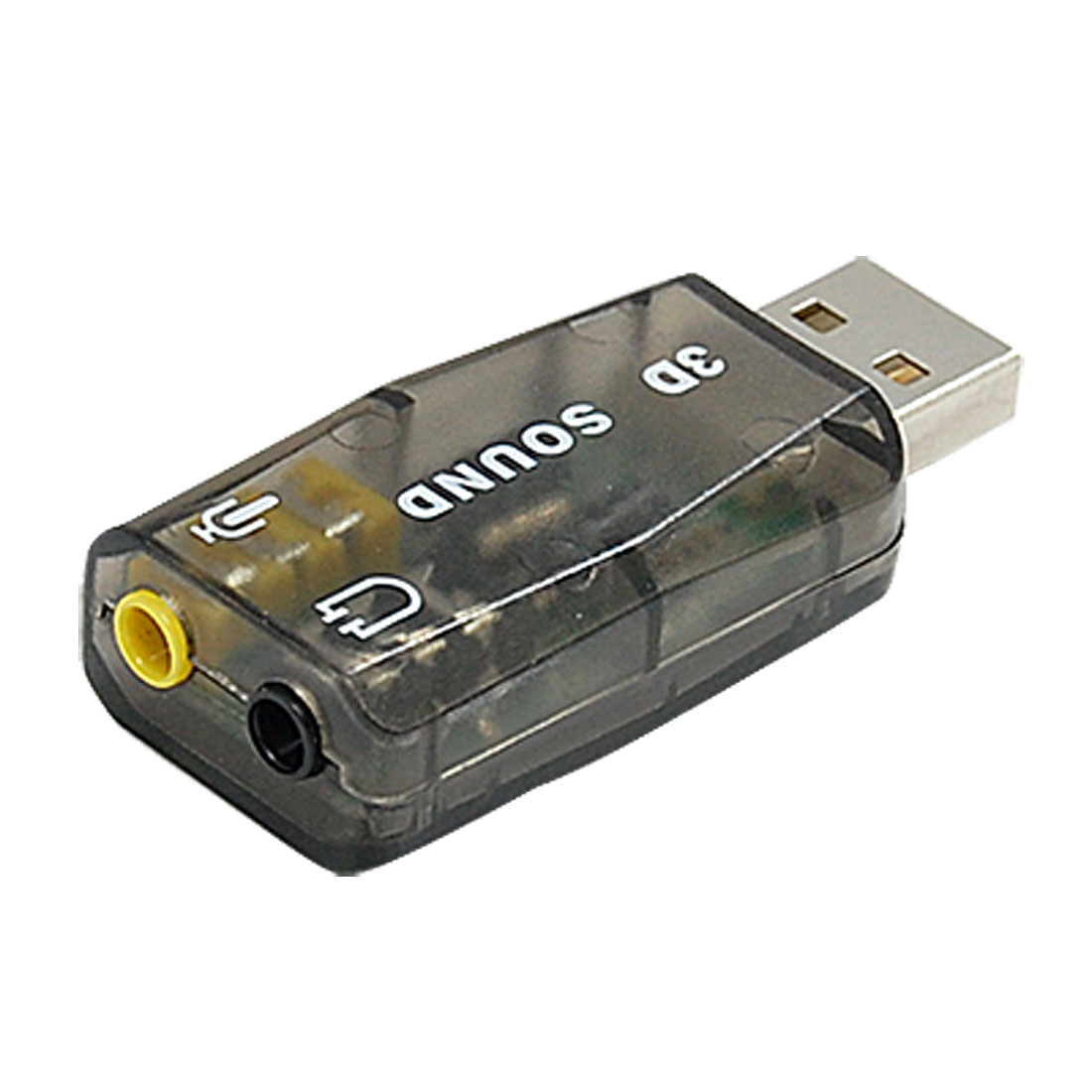 USB 3D Audio Sound Card Microphone Adapter