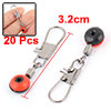 Red Fishing Line to Hook Shank Connector Swivels