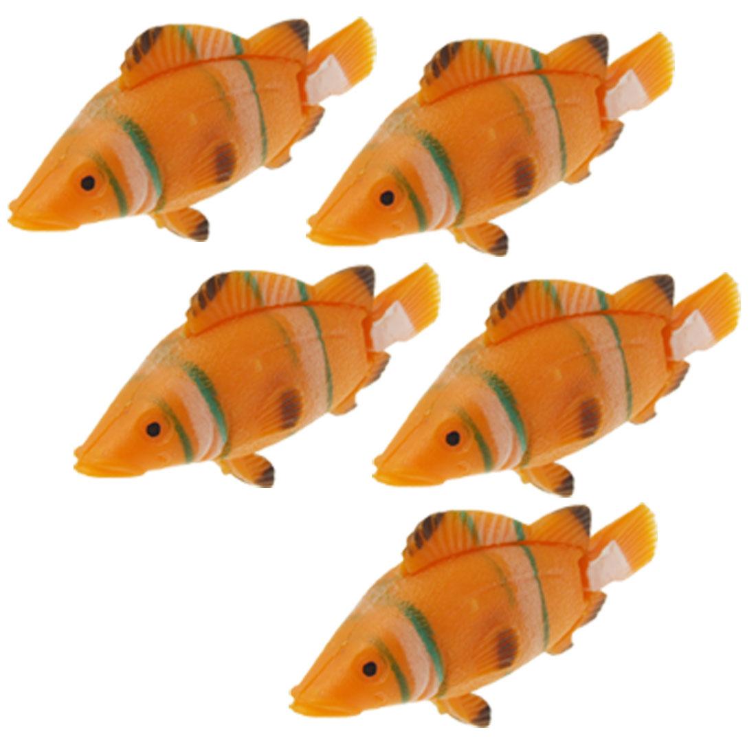 Sea Lifelikes Floating Plastic Fish Aquarium Decor 5pcs