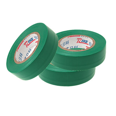 3 Pcs Green Adhesive Electrical Installation PVC Plastic Tape