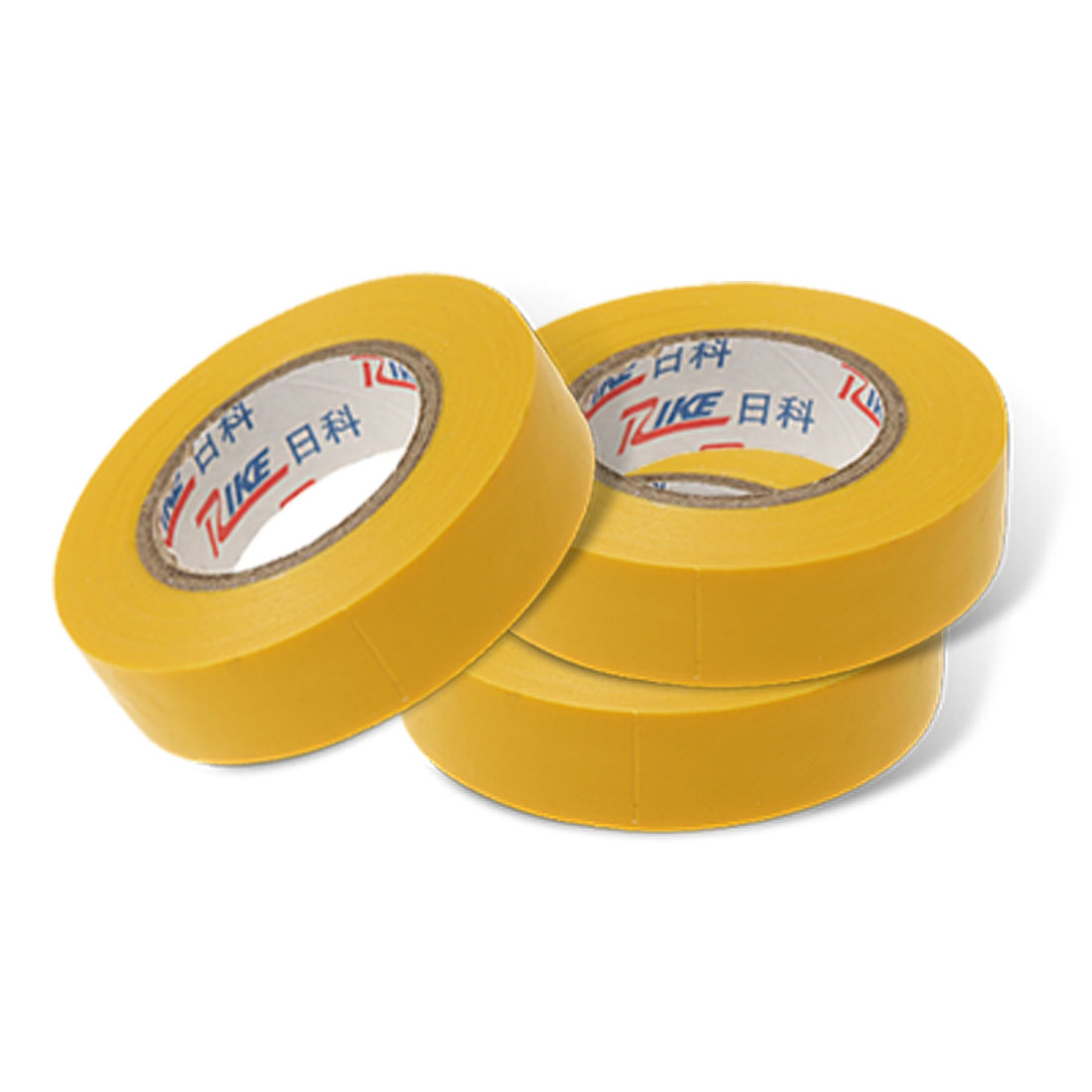 3 Professional Electric Installation Yellow Plastic Adhesive Tape