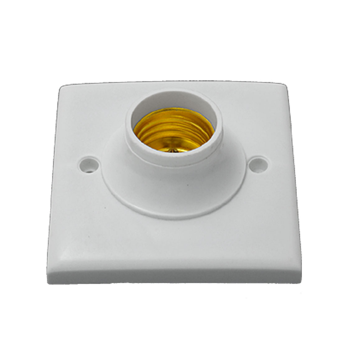 White Square Light Bulb Lamp Socket Holder