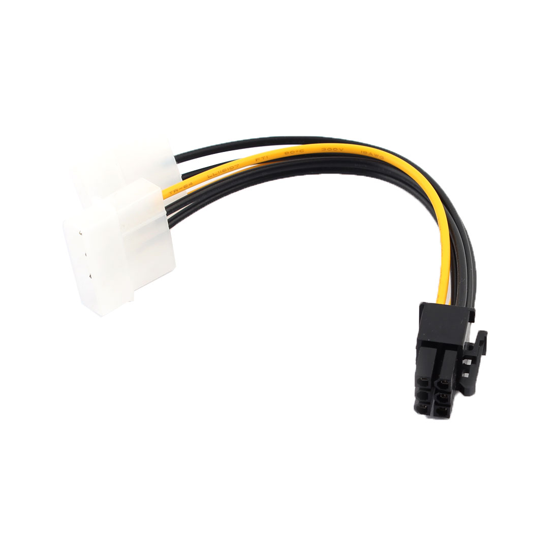 IDE 4 Pin Power to 6 Pin ATX Power Adapter Cable
