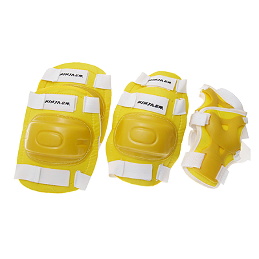Yellow Sports Elbow Knee Wrist Support Protector L