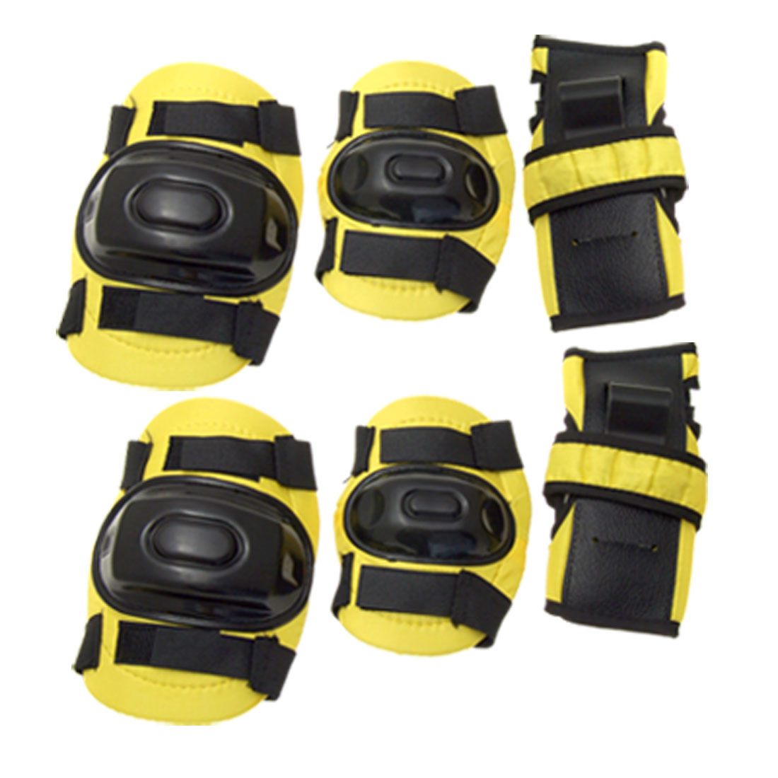 Kids' Elbow Knee Wrist Sports Support Protector Yellow & Black