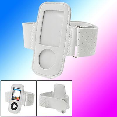 White Sports Armband Case Holder for iPod Nano 4G