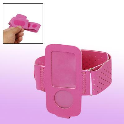 Portable Beautiful Fuchsia Case Holder Armband for iPod Nano 4G