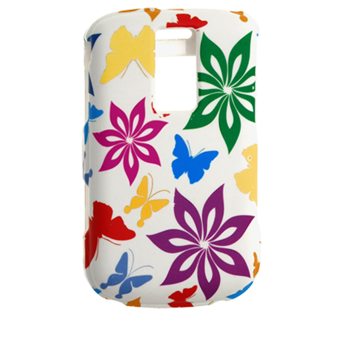 Flower Print Attractive Rubberized Plastic Case for Blackberry 9000