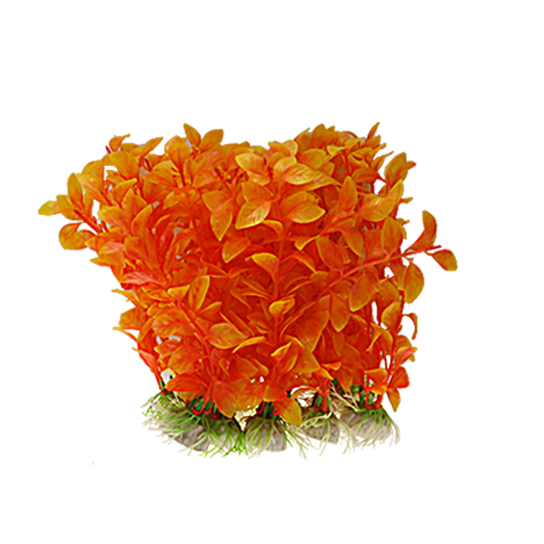 Plastic Orange Aquarium Plants Fish Tank Grass Ornament