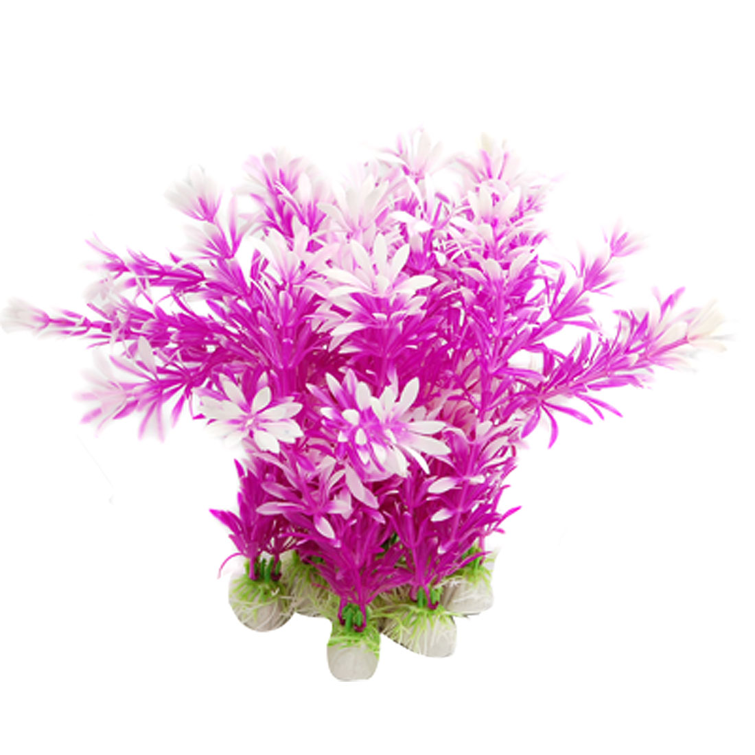 Purple Pink Aquarium Plastic Plants Fish Tank Ornament
