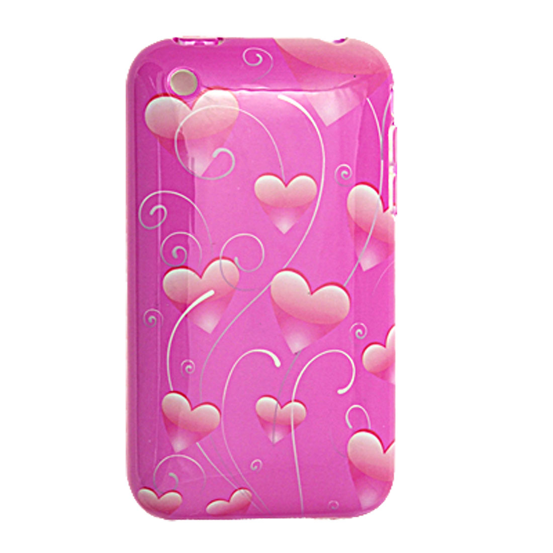 Heart Pattern Hard Case Cover Protector for iPhone 3G