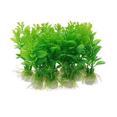 Green Plastic Plants Aquarium Grass Fish Tank Decoration 10 Pcs