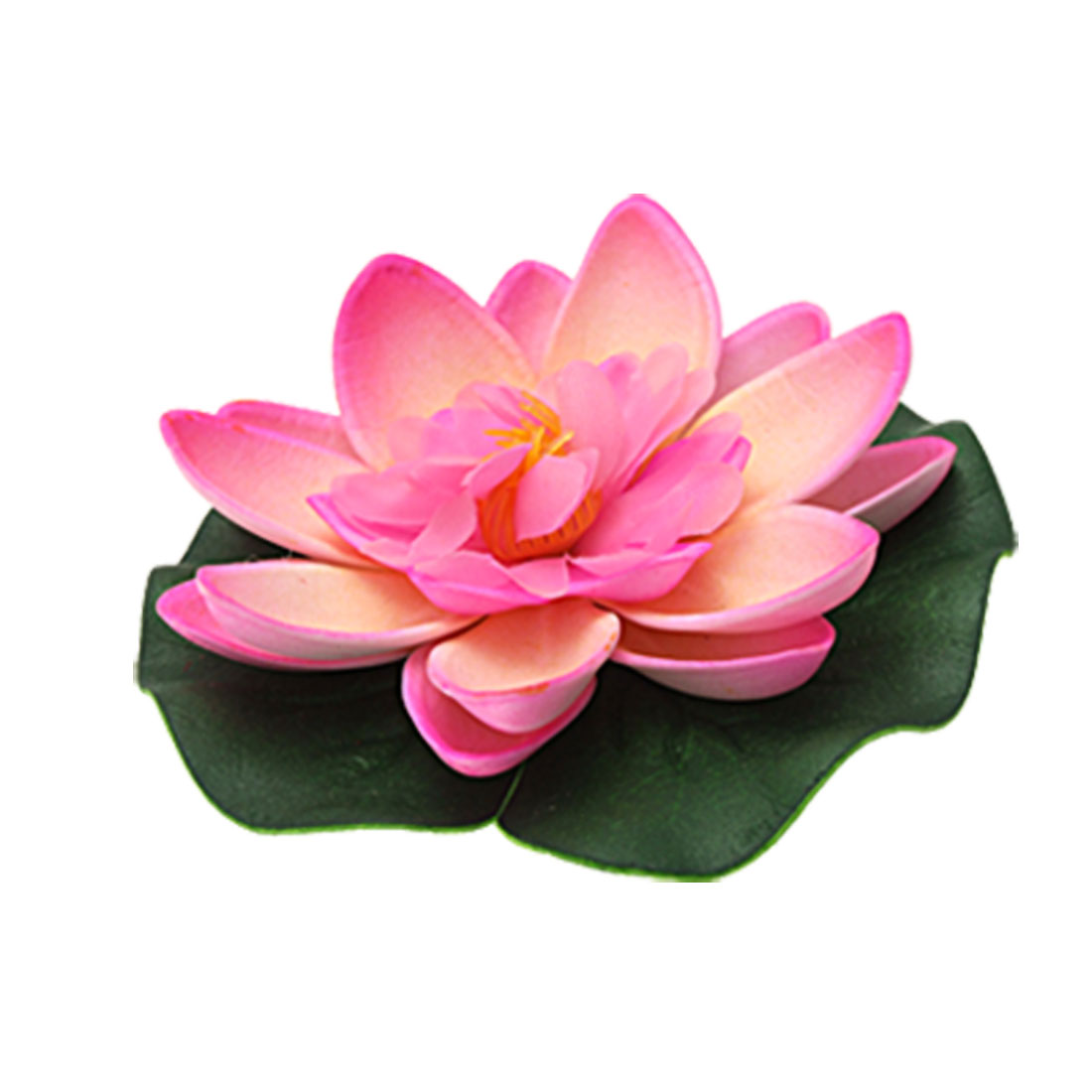 Aquarium Pond Pink Floating Foam Lotus Decor Ornament