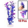 Artificial Plastic Plants Purple for Aquarium Fish Tank