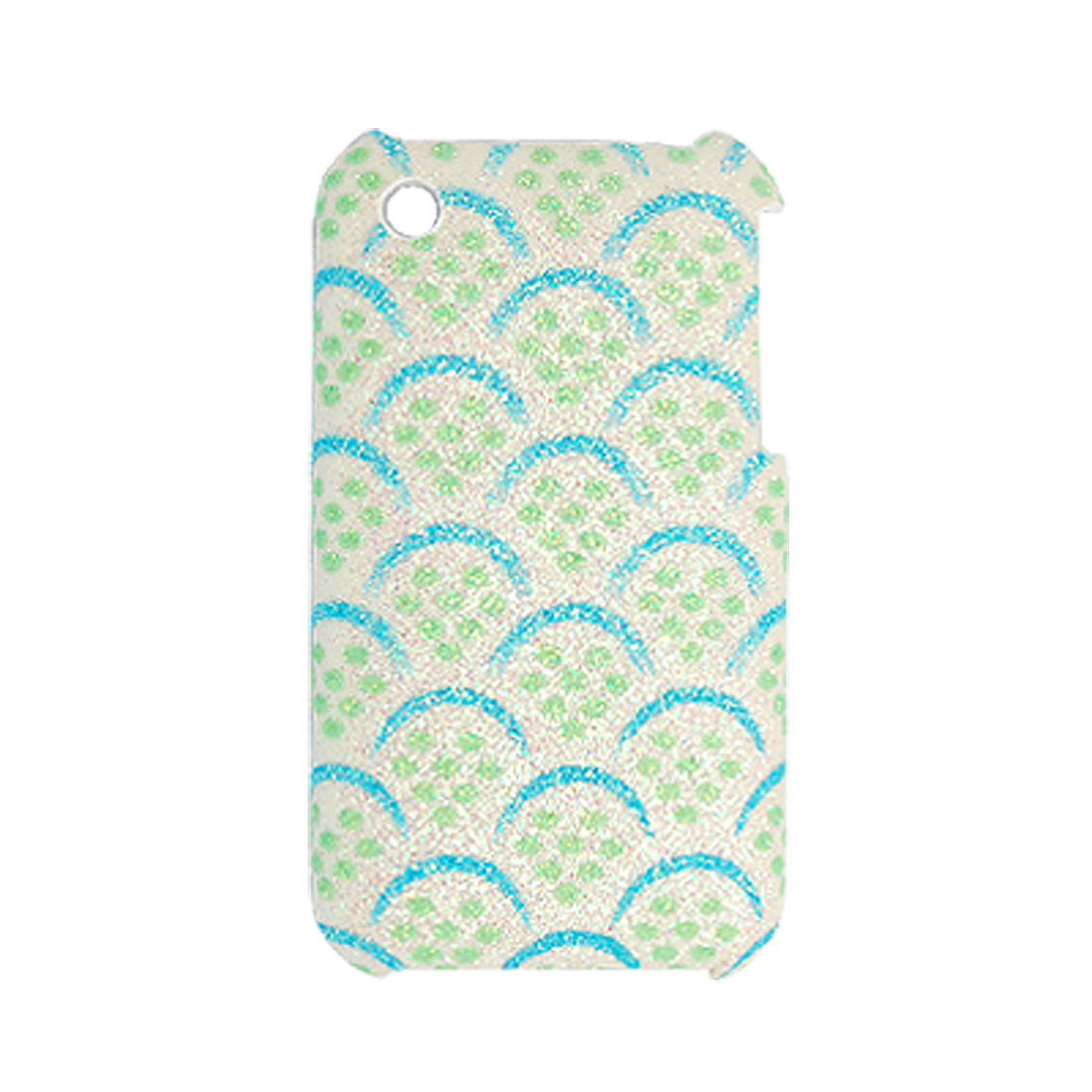 Style Plastic Glittery Coated Case Back Cover for iPhone 3G