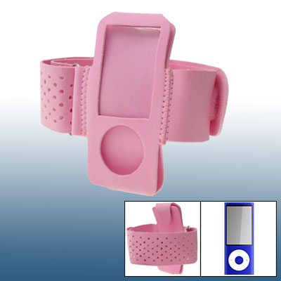 Pink Sports Armband Case Holder Cover for iPod Nano 5G