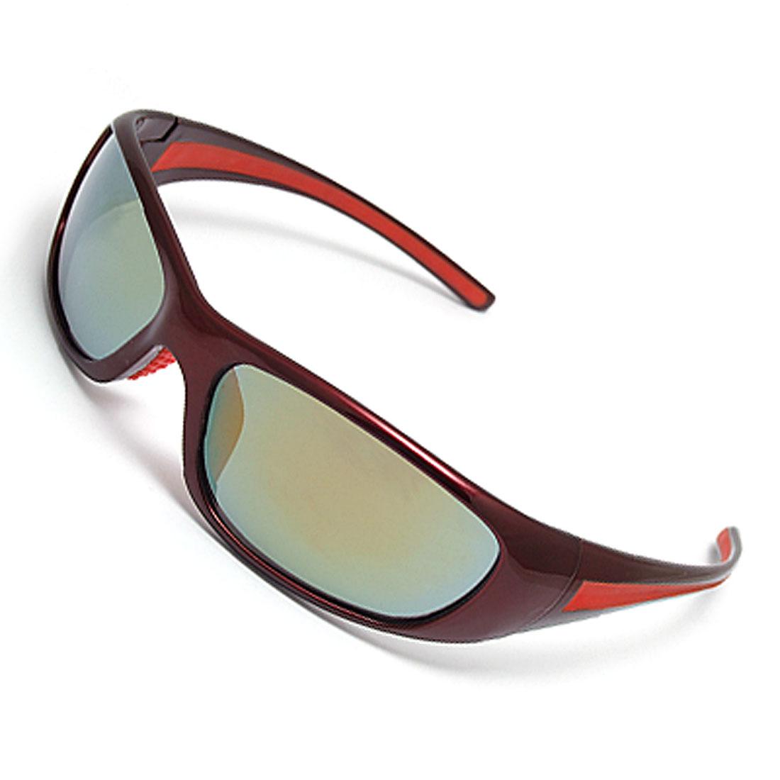 Claret Plastic Frame Unisex Eyeglasses Sunglasses
