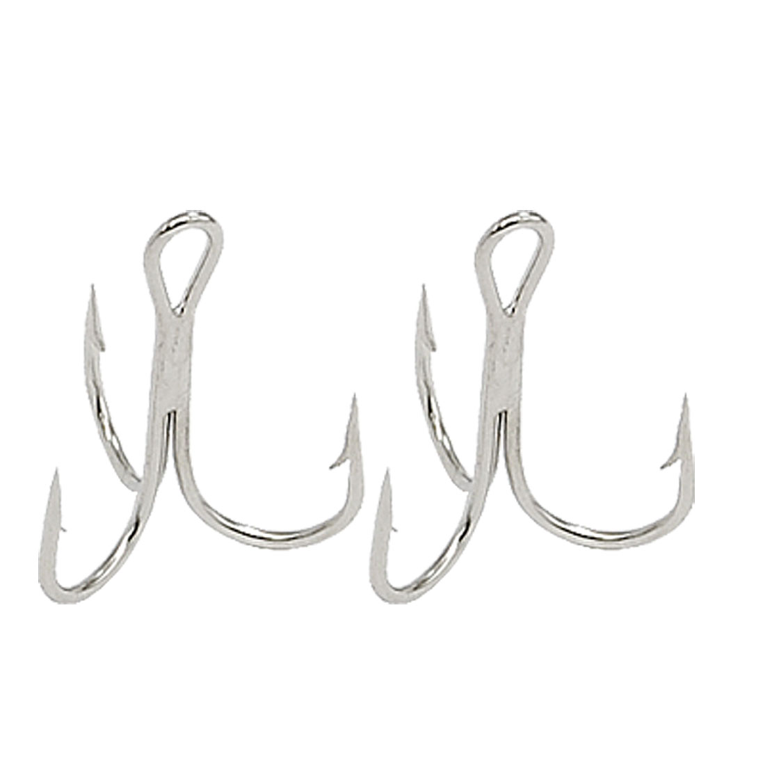 2 PCS Silvery Fresh water Triple Fishing Hook